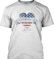 Independence Day. July, 4 1776. Gildan Tall Ultra Cotton T-Shirt.