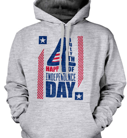 4th of July with Stars and Stripes. Gildan Heavyweight Pullover Fleece Sweatshirt.