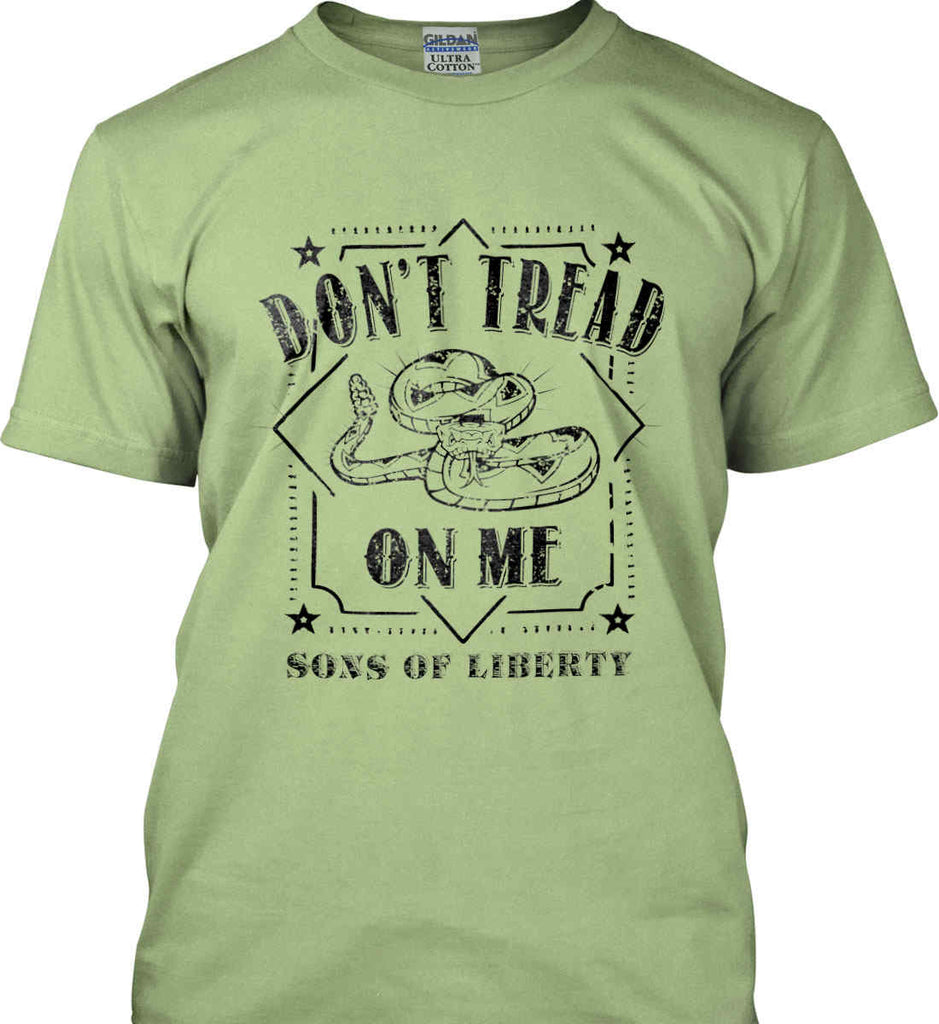 Don't Tread on Me. Snake. Sons of Liberty. Black Print. Gildan Ultra Cotton T-Shirt.-8