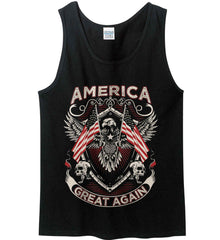 America. Great Again. Gildan 100% Cotton Tank Top.