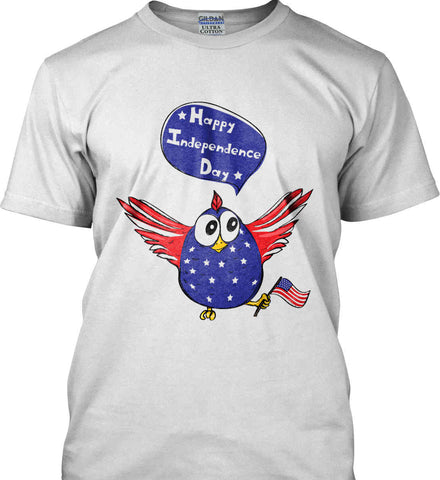 Happy Independence Day. Freedom Birdie. Gildan Ultra Cotton T-Shirt.