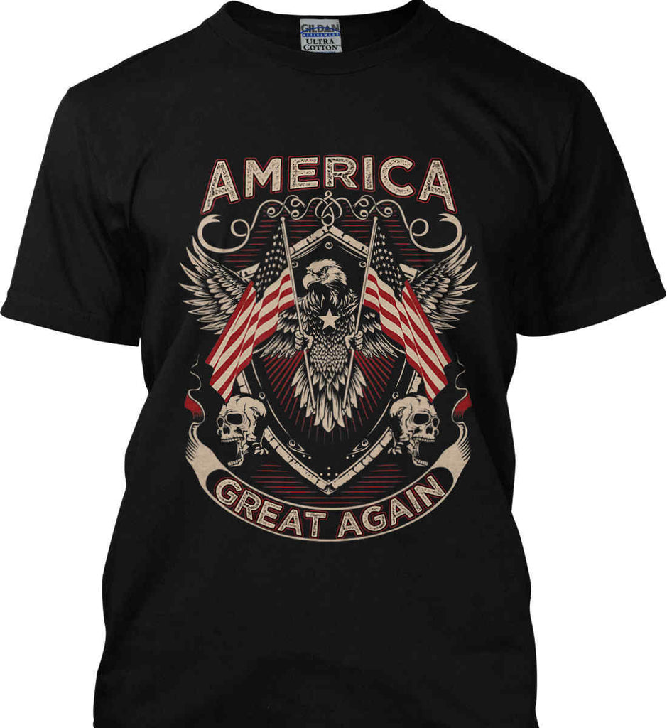d5be1a8cfe718a America. Great Again. Gildan Ultra Cotton T-Shirt.