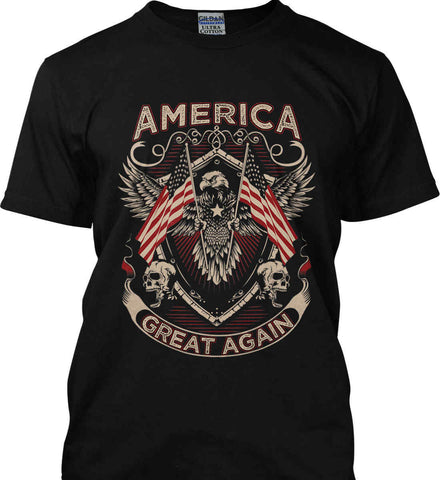 America. Great Again. Gildan Ultra Cotton T-Shirt.