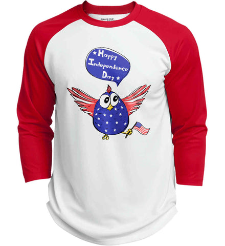 Happy Independence Day. Freedom Birdie. Sport-Tek Polyester Game Baseball Jersey.