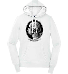 George Washington Liberty or Death. Black Print Women's: Sport-Tek Ladies Pullover Hooded Sweatshirt.