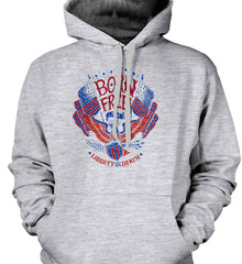 Born Free 1776. Liberty or Death. Gildan Heavyweight Pullover Fleece Sweatshirt.