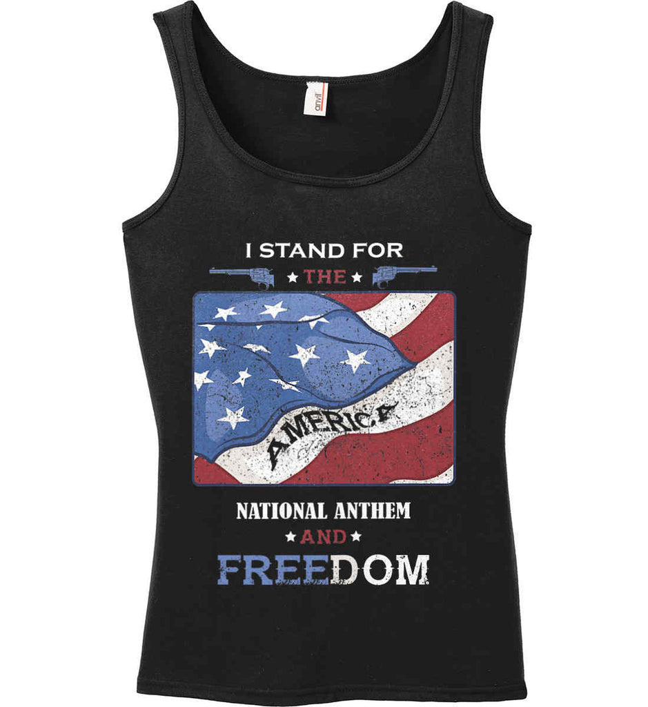 6d7b5c387dfc5a I Stand for the National Anthem and Freedom. Women s  Anvil Ladies  100%