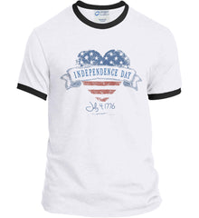 Independence Day. July, 4 1776. Port and Company Ringer Tee.