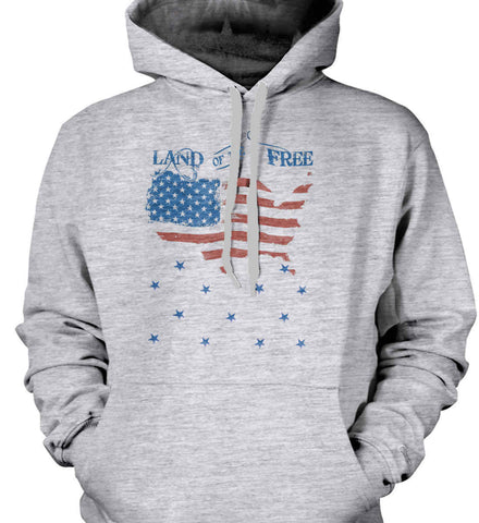 Land of the Free. Gildan Heavyweight Pullover Fleece Sweatshirt.