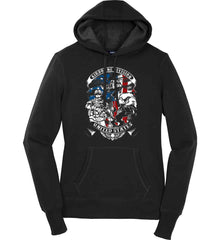 Airborne Division. United States. Women's: Sport-Tek Ladies Pullover Hooded Sweatshirt.