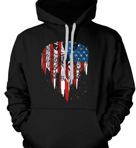 USA Eagle Flying High. Gildan Heavyweight Pullover Fleece Sweatshirt.