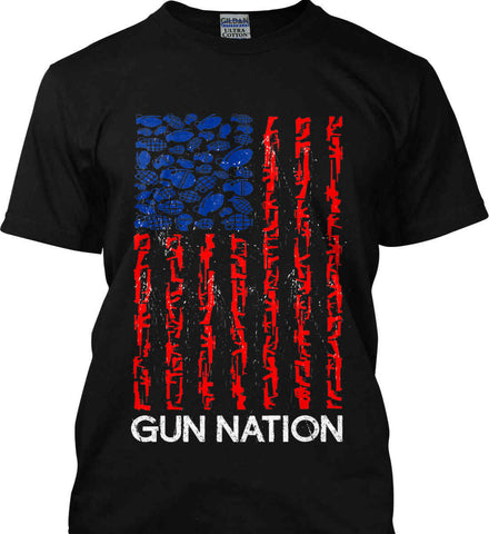 Gun Nation. Gildan Tall Ultra Cotton T-Shirt.
