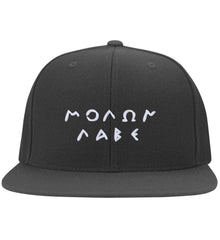 Molon Labe. Original Script. Hat. Molon Labe - Come and Take. Yupoong Flat Bill Twill Flexfit Cap. (Embroidered)