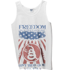 Freedom. Give me liberty or give me death. Gildan 100% Cotton Tank Top.