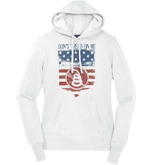 Don't Tread on Me. Rattlesnake. Faded Grunge Shield Women's: Sport-Tek Ladies Pullover Hooded Sweatshirt.