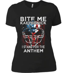 Kaepernick. I Stand for the Anthem. Women's: Next Level Ladies' Boyfriend (Girly) T-Shirt.
