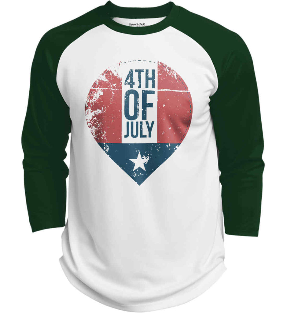 4th of July with Star. Sport-Tek Polyester Game Baseball Jersey.-2