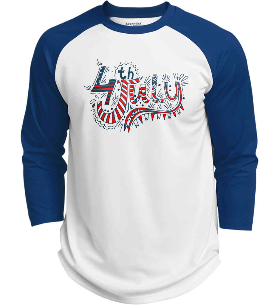 July 4th Red, White and Blue. Sport-Tek Polyester Game Baseball Jersey.-7