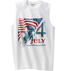 Patriot Flag. July 4th. Independence Day. Gildan Men's Ultra Cotton Sleeveless T-Shirt.
