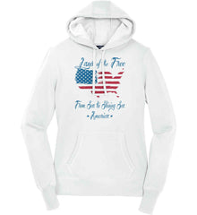 Land of the Free. From sea to shining sea. Women's: Sport-Tek Ladies Pullover Hooded Sweatshirt.