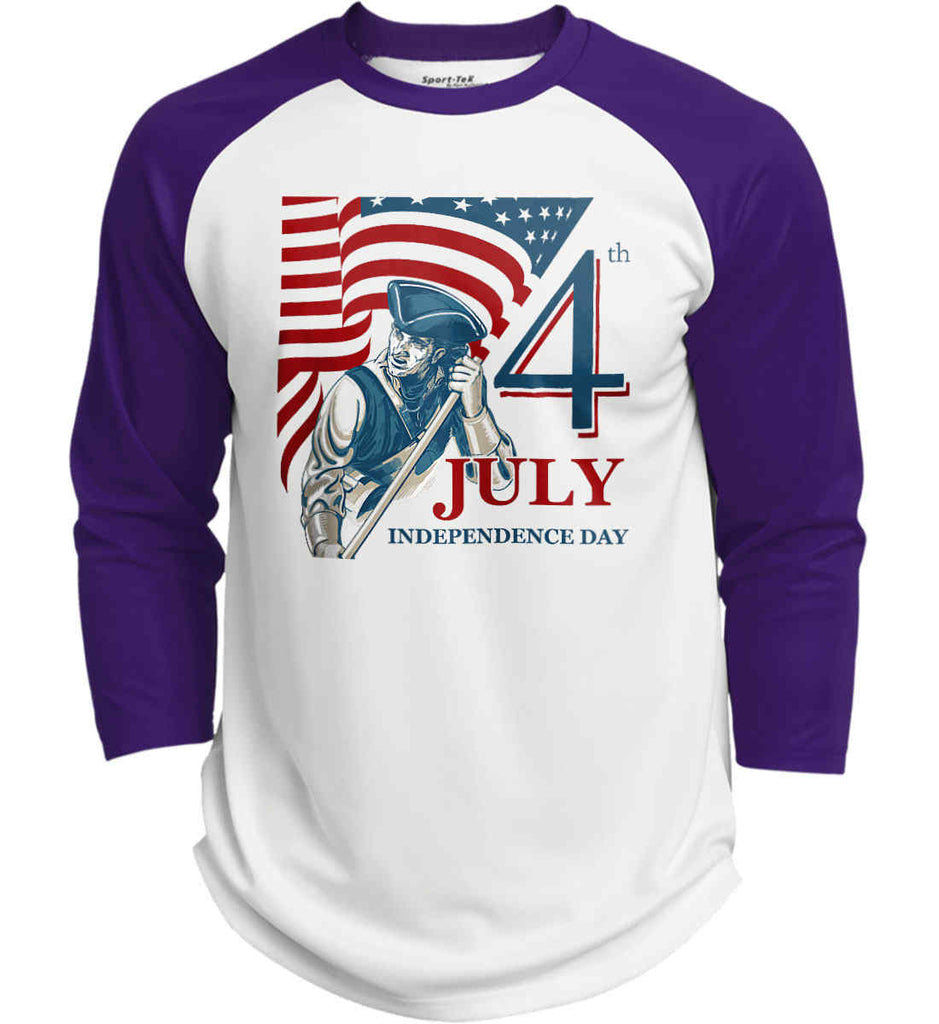 Patriot Flag. July 4th. Independence Day. Sport-Tek Polyester Game Baseball Jersey.-6