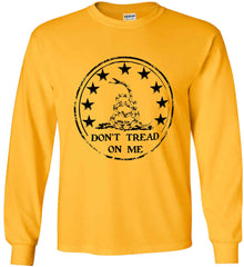 Don't Tread on Me Don't Tread on Me. Black Print. Gildan Ultra Cotton Long Sleeve Shirt.