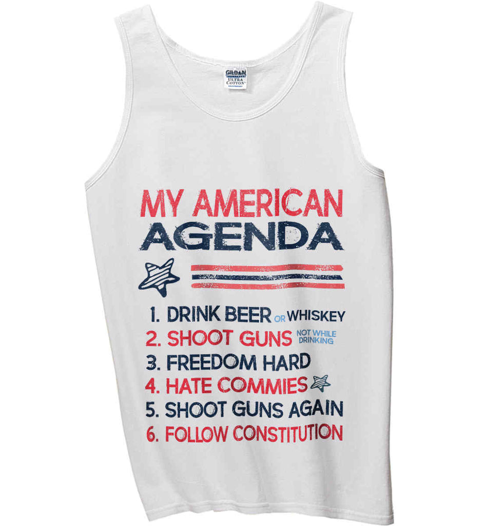 My American Agenda. Gildan 100% Cotton Tank Top.-3