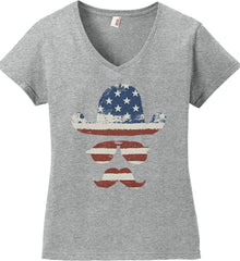 Do you even know how to Patriot Bro? Women's: Anvil Ladies' V-Neck T-Shirt.