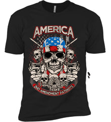 America. 2nd Amendment Patriots. Next Level Premium Short Sleeve T-Shirt.
