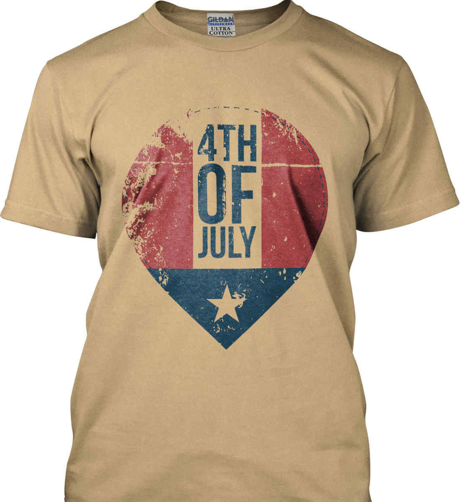 4th of July with Star. Gildan Ultra Cotton T-Shirt.-6