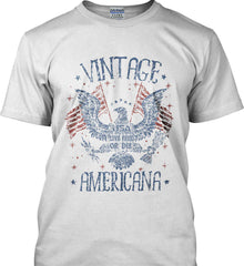 Vintage Americana Faded Grunge Gildan Ultra Cotton T-Shirt.
