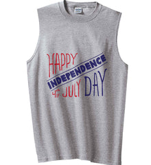 Happy Independence Day. 4th of July. Gildan Men's Ultra Cotton Sleeveless T-Shirt.