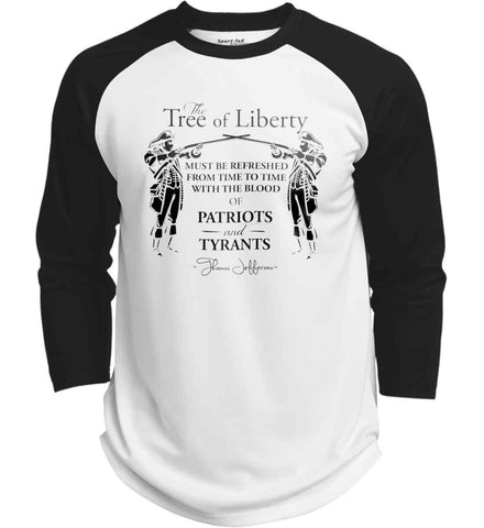 The Tree of Liberty must be refreshed from time to time with the blood of Patriots and Tyrants. Black Print Sport-Tek Polyester Game Baseball Jersey.