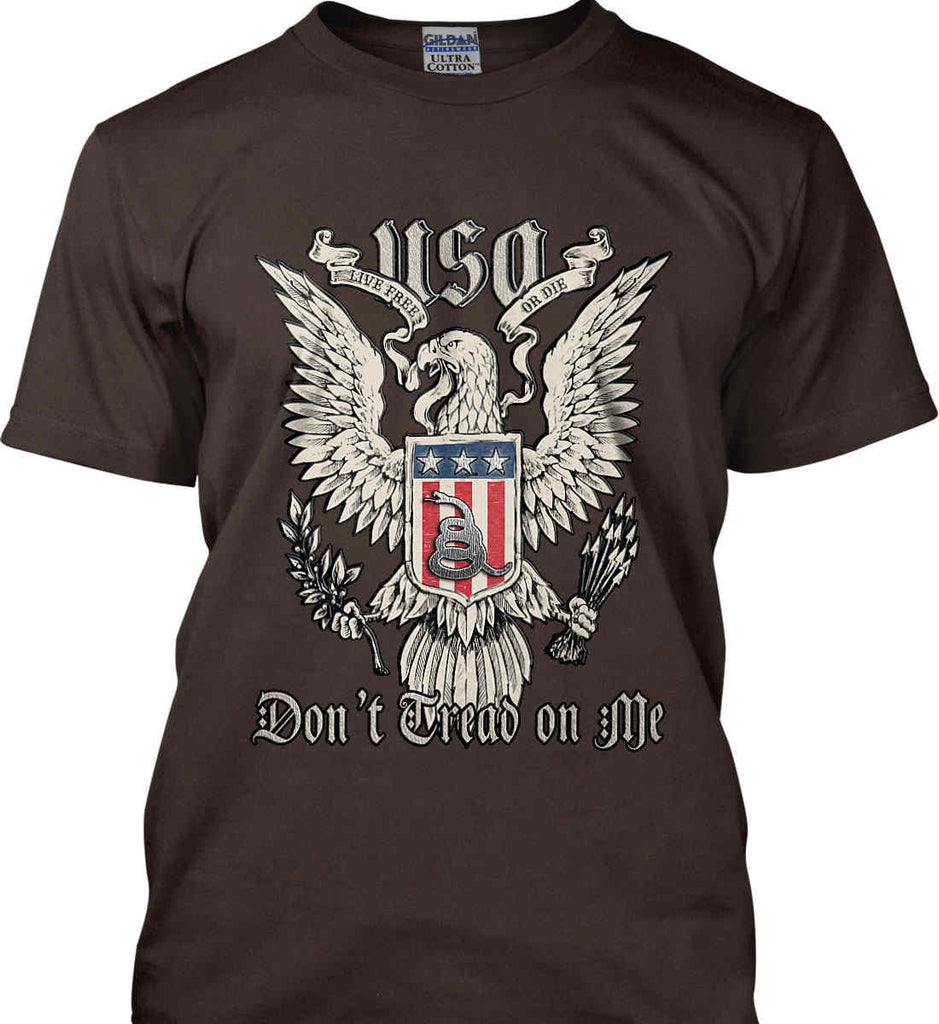 Don't Tread on Me. Eagle with Shield and Rattlesnake. Gildan Ultra Cotton T-Shirt.-11