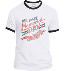 Happy Memorial Day. Port and Company Ringer Tee.