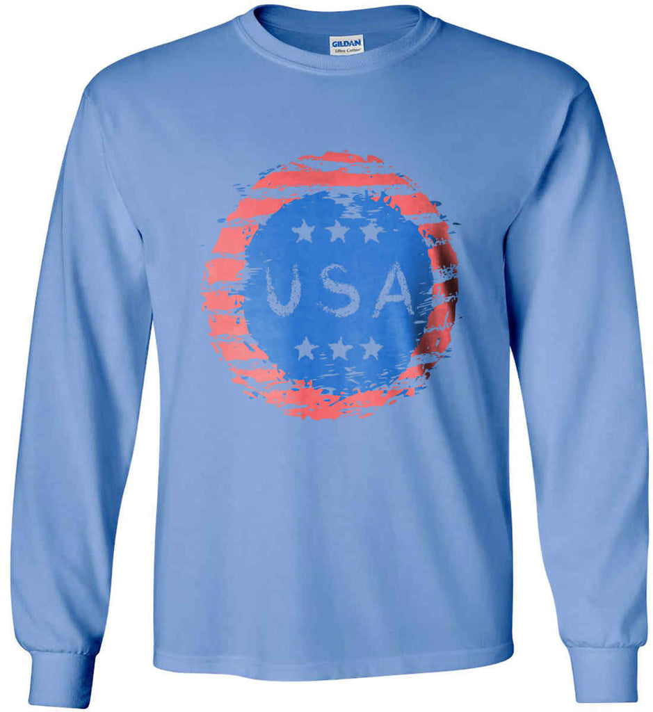Grungy USA. Gildan Ultra Cotton Long Sleeve Shirt.-4
