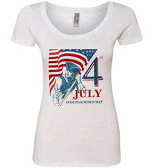 Patriot Flag. July 4th. Independence Day. Women's: Next Level Ladies' Triblend Scoop.