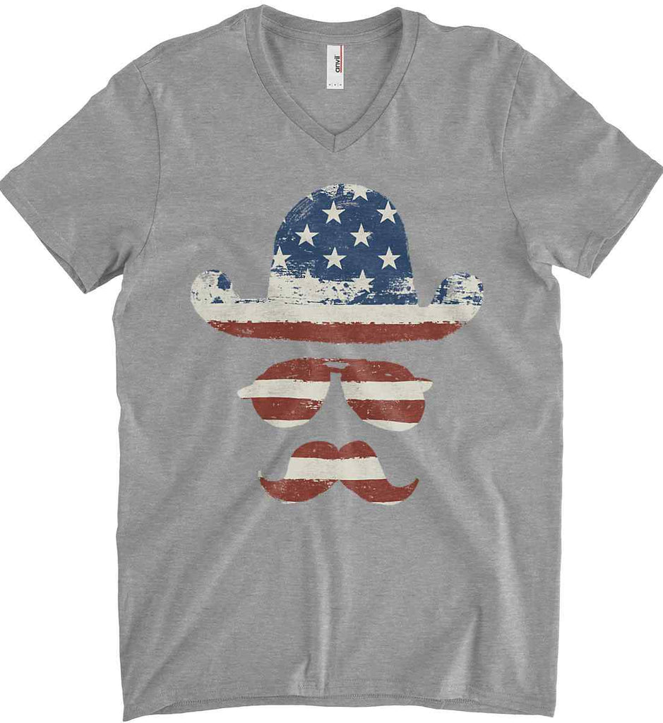 Do you even know how to Patriot Bro? Anvil Men's Printed V-Neck T-Shirt.-1