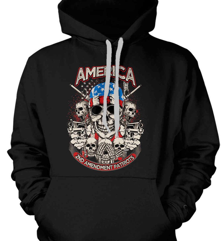 America. 2nd Amendment Patriots. Gildan Heavyweight Pullover Fleece Sweatshirt.-1