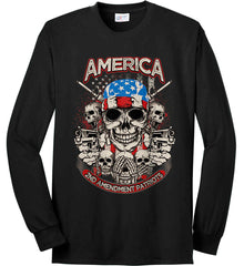 America. 2nd Amendment Patriots. Port & Co. Long Sleeve Shirt. Made in the USA..