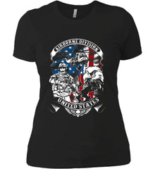 Airborne Division. United States. Women's: Next Level Ladies' Boyfriend (Girly) T-Shirt.