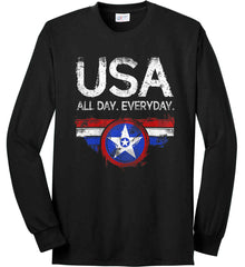 USA All Day Everyday. Port & Co. Long Sleeve Shirt. Made in the USA..