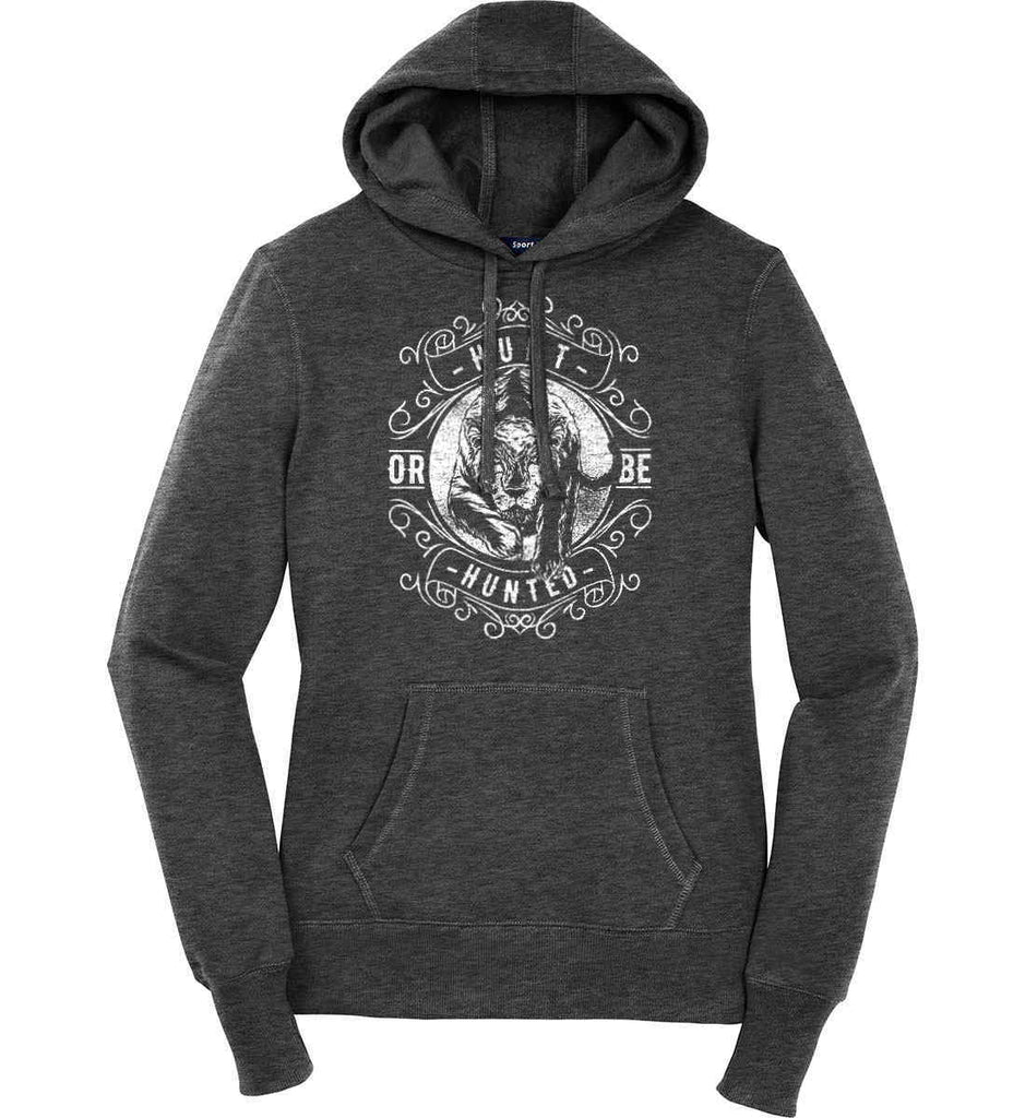 Hunt or be Hunted. Women's: Sport-Tek Ladies Pullover Hooded Sweatshirt.-3