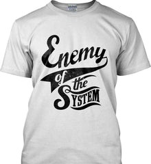 Enemy of The System. Gildan Tall Ultra Cotton T-Shirt.