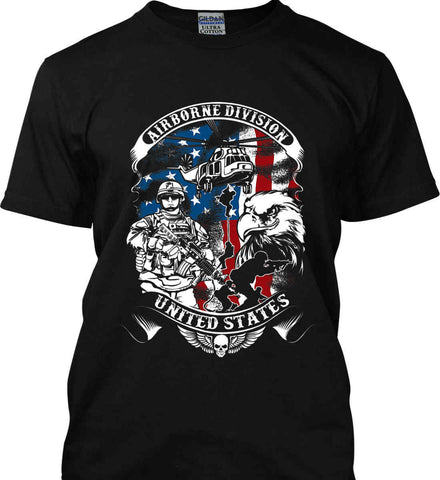 Airborne Division. United States. Gildan Tall Ultra Cotton T-Shirt.