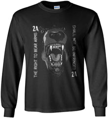 The Right to Bear Arms. Shall Not Be Infringed. Gildan Ultra Cotton Long Sleeve Shirt.