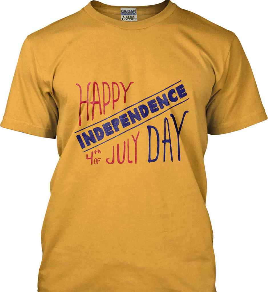 Happy Independence Day. 4th of July. Gildan Ultra Cotton T-Shirt.-4