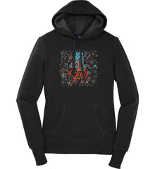 4th of July. Stars and Rockets. Women's: Sport-Tek Ladies Pullover Hooded Sweatshirt.