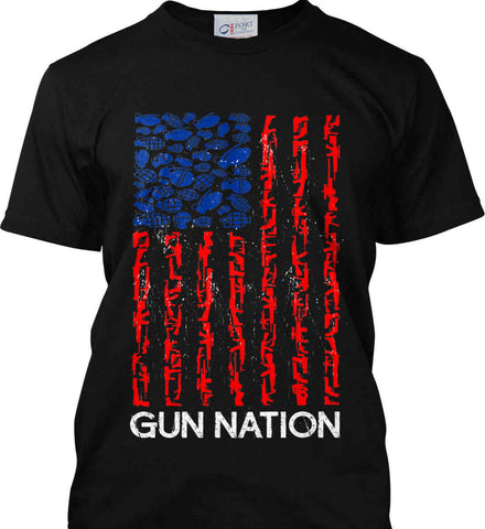 Gun Nation. Port & Co. Made in the USA T-Shirt.