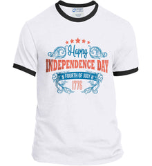 Happy Independence Day. Fourth of July. 1776. Port and Company Ringer Tee.